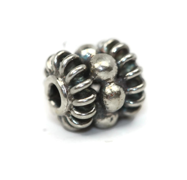 Bali Bead Sterling Silver Granules Spacer Bead 7 x 6 mm
