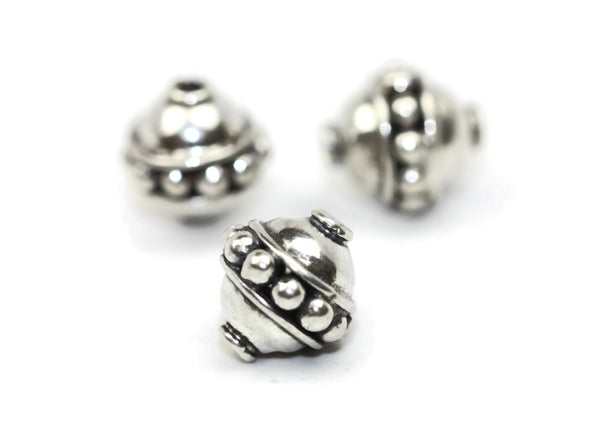 Bali Bead Handmade Sterling Silver Round Bead 8.5 x 8mm
