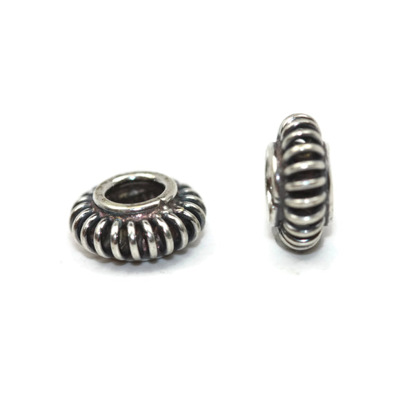 Bali Bead Sterling Silver Coil Spacer 3.5 x 8mm