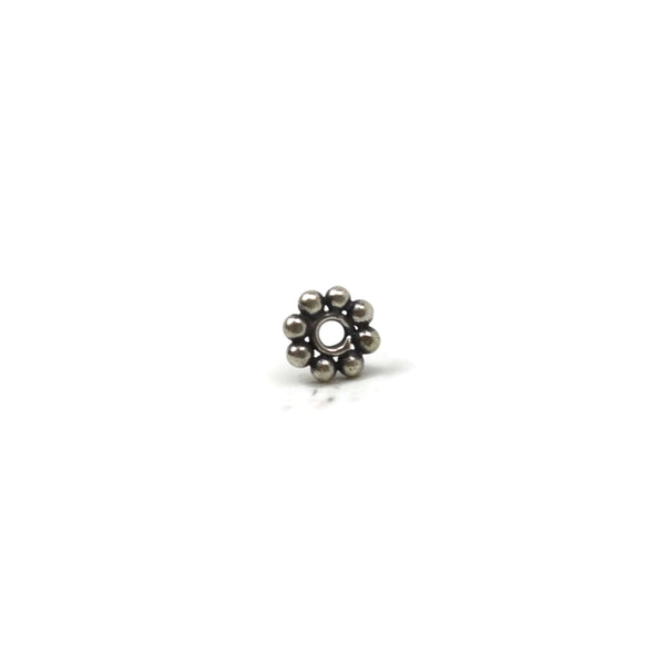 Bali Bead Sterling Silver Daisy Spacer Bead 4 mm