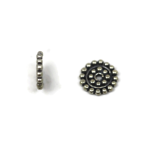Bali Bead Sterling Silver Sun Daisy Spacer Bead 1 x 8 mm