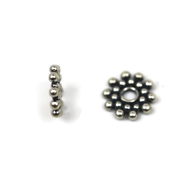 Bali Bead Sterling Silver Sun Daisy Spacer Bead 1.5 x 9.5 mm