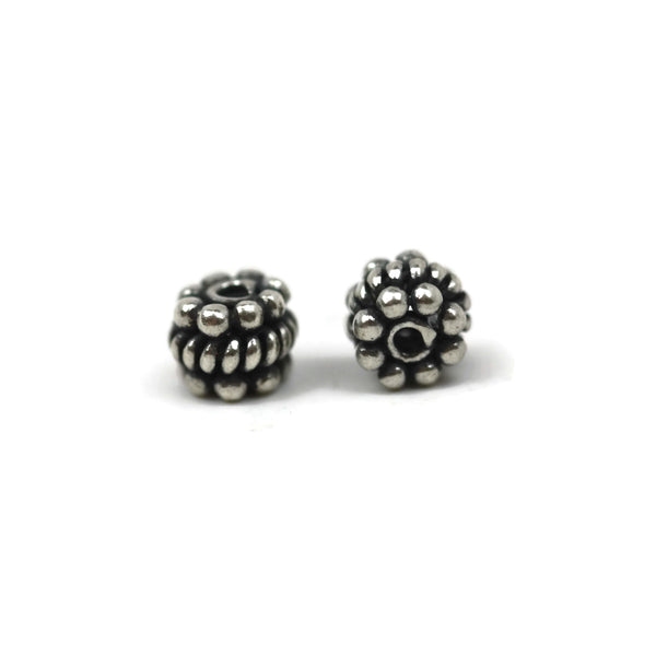 Bali Bead Sterling Silver Granules Spacer Bead 4 x 6 mm