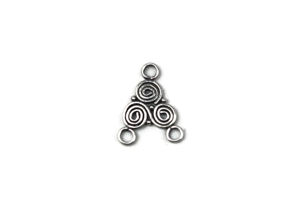 Bali Antique Sterling Silver Swirl Connector 16.5 x 12mm