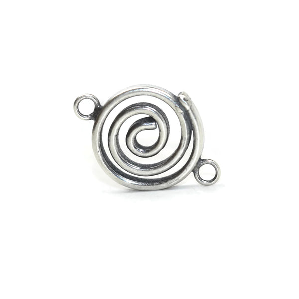 Bali Antique Sterling Silver Spiral Connector 18 x 12mm