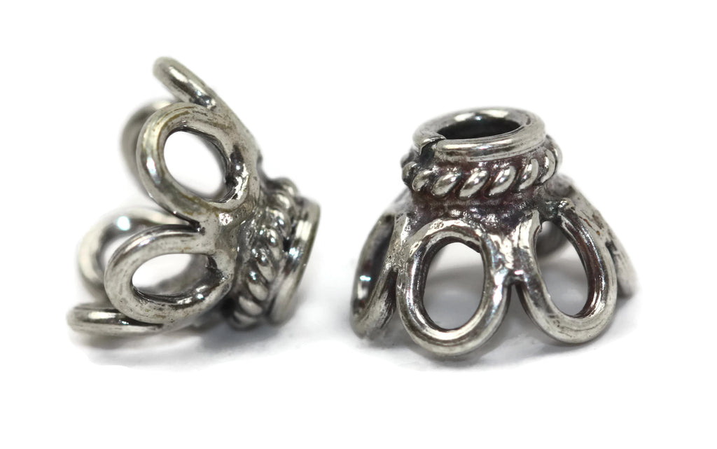 d3c75f52d Bali Bead Sterling Silver Wire Bead Cap 8 x 11 mm – Bead The Beads