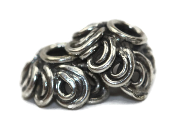 Bali Bead Antique Sterling Silver Bead Cap 4 x 8mm