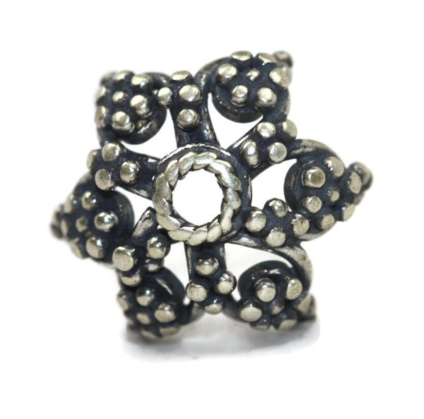 Bali Bead Antique Sterling Silver Bead Cap 6 x 12.5mm