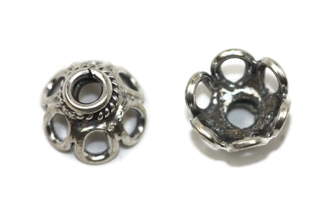 Bali Bead Antique Sterling Silver Bead Cap 12 x 10mm