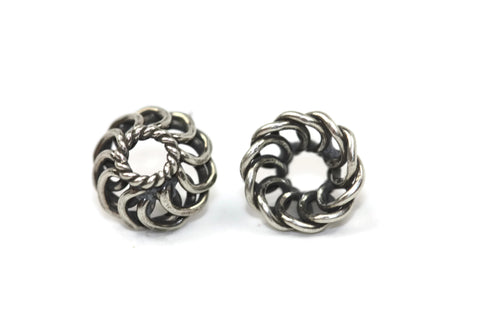 Bali Bead Antique Sterling Silver Bead Cap 8 x 4mm