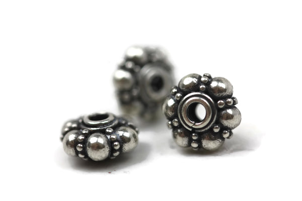 Bali Bead Sterling Silver Granules Spacer 4 x 8 mm