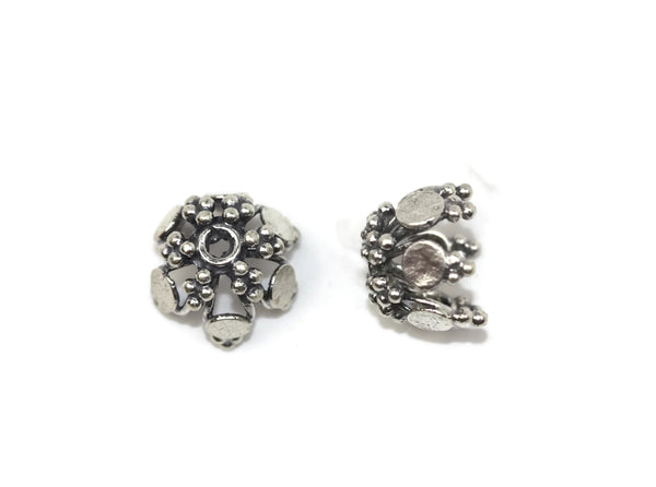 Bali Bead Sterling Silver Spacer Bead 11 x 14 mm