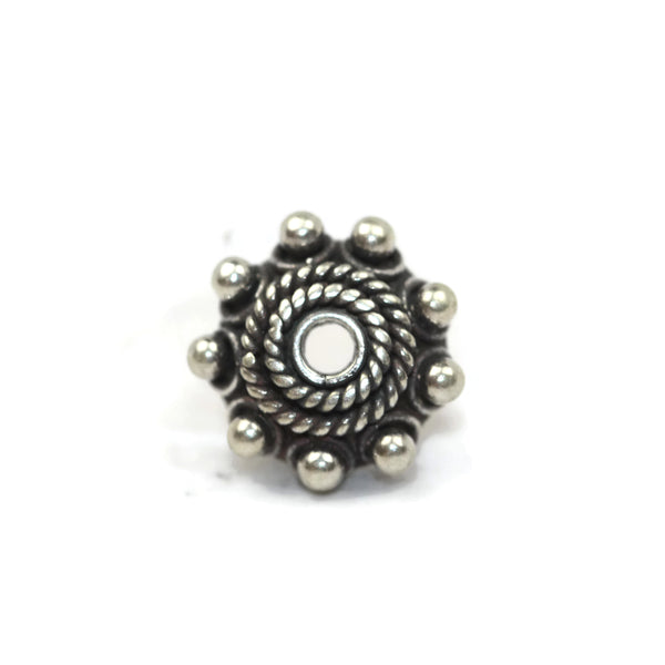 Bali Bead Sterling Silver Dome Bead Cap 3.5 x 11 mm