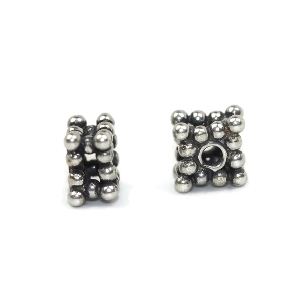 Bali Bead Sterling Silver Square Daisy Spacer Bead 5 x 3mm