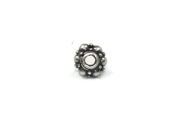Bali Bead Sterling Silver Granules Spacer Bead 4.5 x 6.5 mm