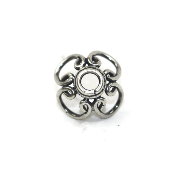 Bali Bead Antique Sterling Silver Bead Cap 7.5 x 15mm