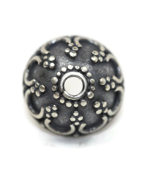 Bali Bead Antique Sterling Silver Bead Cap 4.5 x 9mm