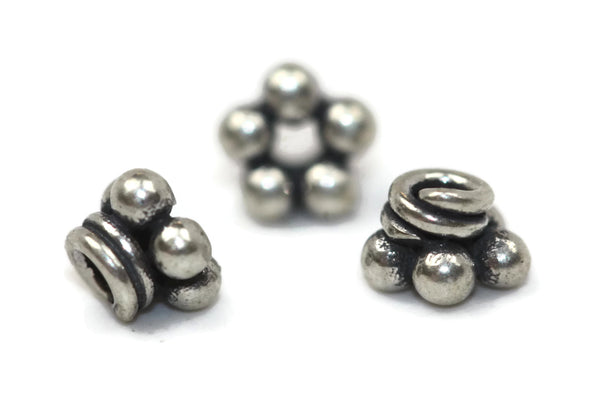 Bali Bead Sterling Silver Granules Spacer 2.5 x 4 mm
