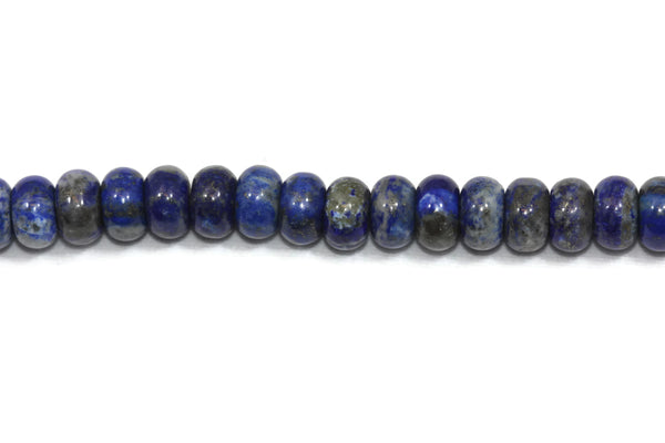 "Lapis Lazuli Rondelle Gemstone Beads 8mm 16"" strand NATURAL"