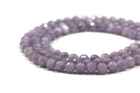 Amethyst Faceted Round Gemstone Beads 8mm