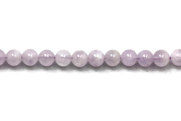 "Amethyst Smooth Round Gemstone Beads 6mm 16"" Strand"