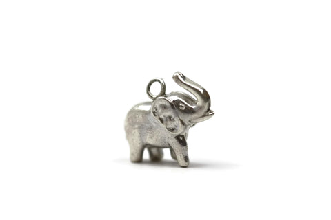 Sterling Silver Elephant Charm 15 mm
