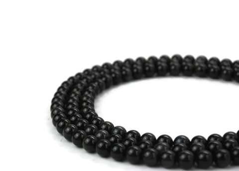 "Natural Black Obsidian Gemstone Beads 8mm 16"" strand A Grade"