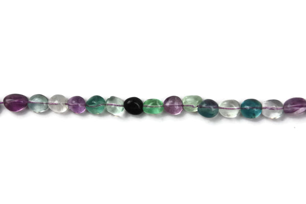 "Flourite Smooth Rounded Nugget Gemstone Beads 10mm Half Strand 8"" strand (18 pcs)"