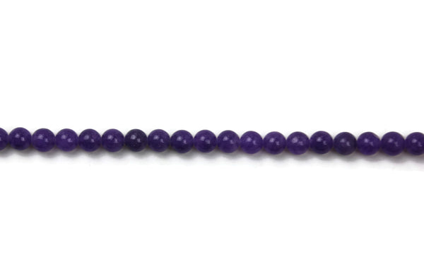 "Amethyst Purple Jade Smooth Round Gemstone Beads 8 mm 16"" Strand (46-48 pcs)"