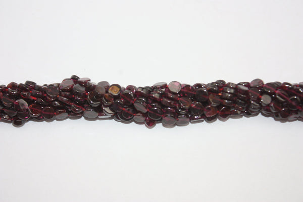 "Garnet Smooth Circle Gemstone Beads 4mm to 6mm Assorted 15"" Strand"