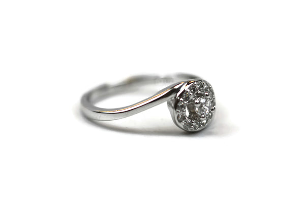 Rhodium Plated .925 Sterling Silver Cubic Zirconia CZ Ring
