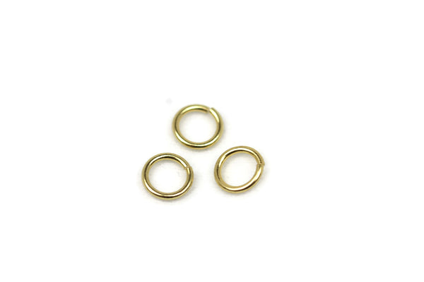 ALMA BEADS 18K Gold Plated Jump Rings 7mm - 20 pcs