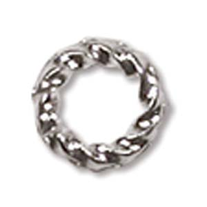 6MM TWISTED JUMP RING SILVER PLATED