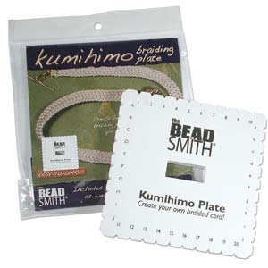 KUMIHIMO PLATE 6IN SQUARE ENGLISH INSTR EACH