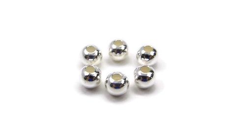 S/S LARGE HOLE SPACER BALLS 6MM