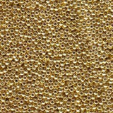 11/0 SEEDBEAD JAPANESE 8.5GM GALVANIZED YELLOW GOLD