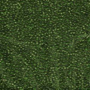 11/0 SEEDBEAD JAPANESE  10GM TRANSPARENT OLIVE GREEN