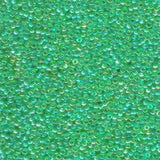 11/0 SEEDBEAD JAPANESE  10GM TRANSP LIGHT GREEN AB