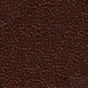 11/0 JAPANESE SEEDBEADS  10GM OPAQUE CHOCOLATE BROWN