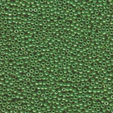 11/0 JAPANESE SEEDBEADS  10GM OPAQUE JADE GREEN LUSTER