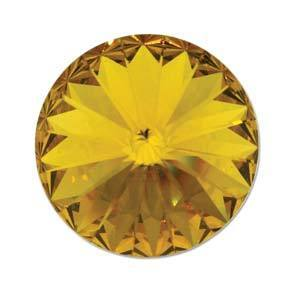 14MM SWAROVSKI RIVOLI SUNFLOWER FOILED