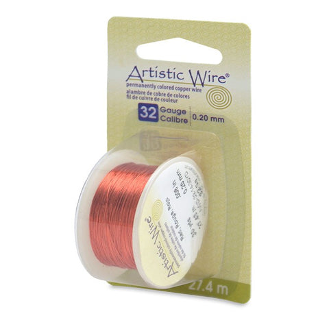 Artistic Wire, 30 Gauge (.26 mm), Red, 30 yd (27.4 m)