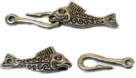 Fishy Clasp (45mm) - Pewter