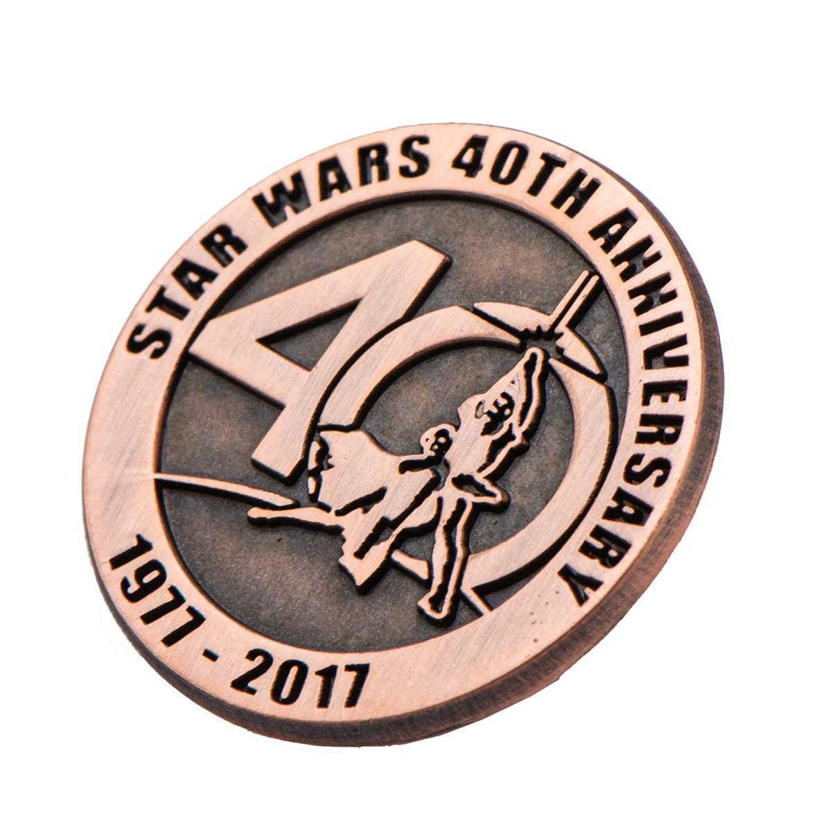 Star Wars 40th Anniversary Collectible Bronze Pin Sdcc 17