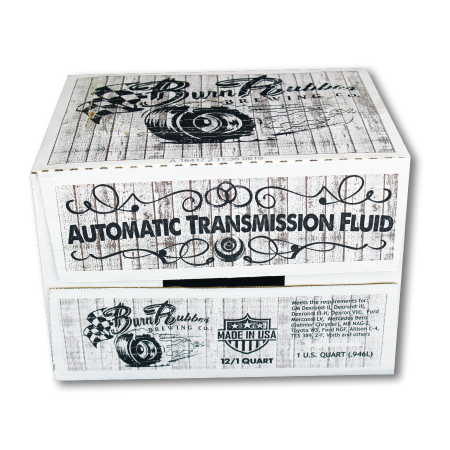Burn Rubber Brewing Universal Synthetic Cider, Auto Transmission Fluid, 1 5  Case (18 Quarts)