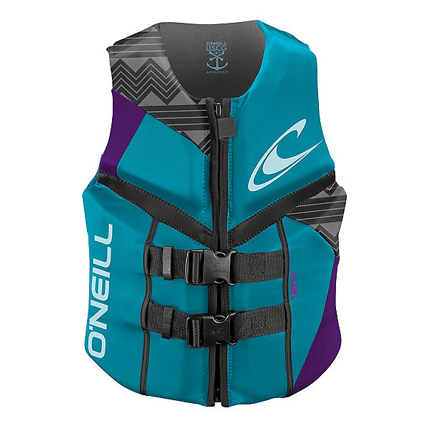 O'Neill Women's Reactor Full Zip USCG Life Vest - Sun 'N Fun Specialty Sports