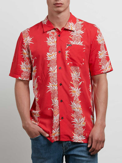 Volcom Men's Palm Glitch Short Sleeve Shirt
