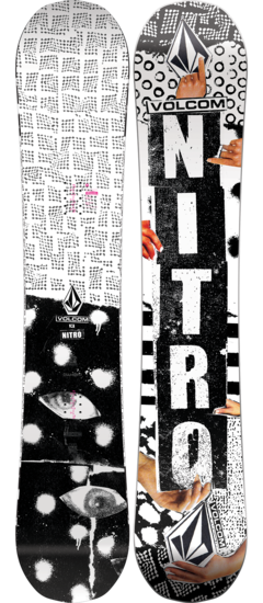 Nitro Men's Beast X Volcom Snowboard 2020 - Sun 'N Fun Specialty Sports