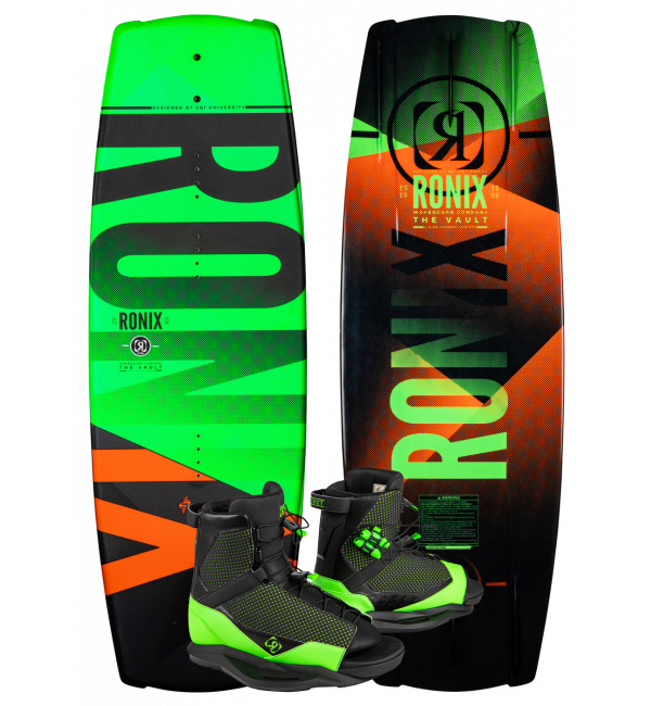 Ronix Youth Vault 128 Wakeboard w/ District Boot Package 2020