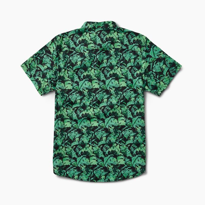 Reef Men's Beach Palms Short Sleeve Button Up Shirt 2019